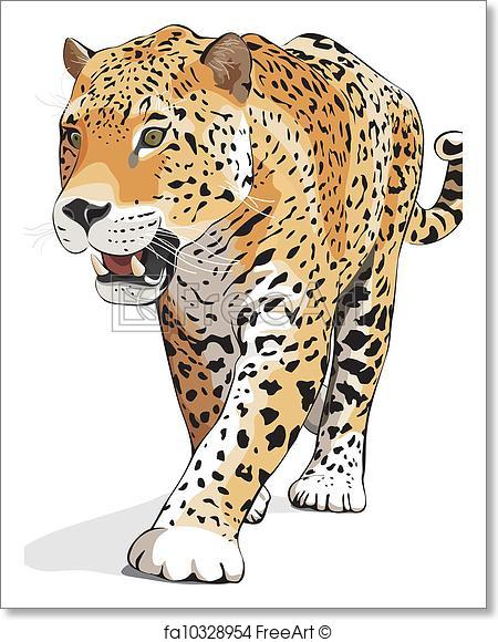 450x580 Free Art Print Of Jaguar