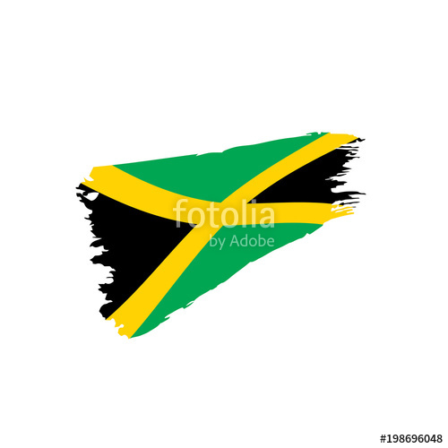 500x500 Jamaica Flag, Vector Illustration Stock Image And Royalty Free