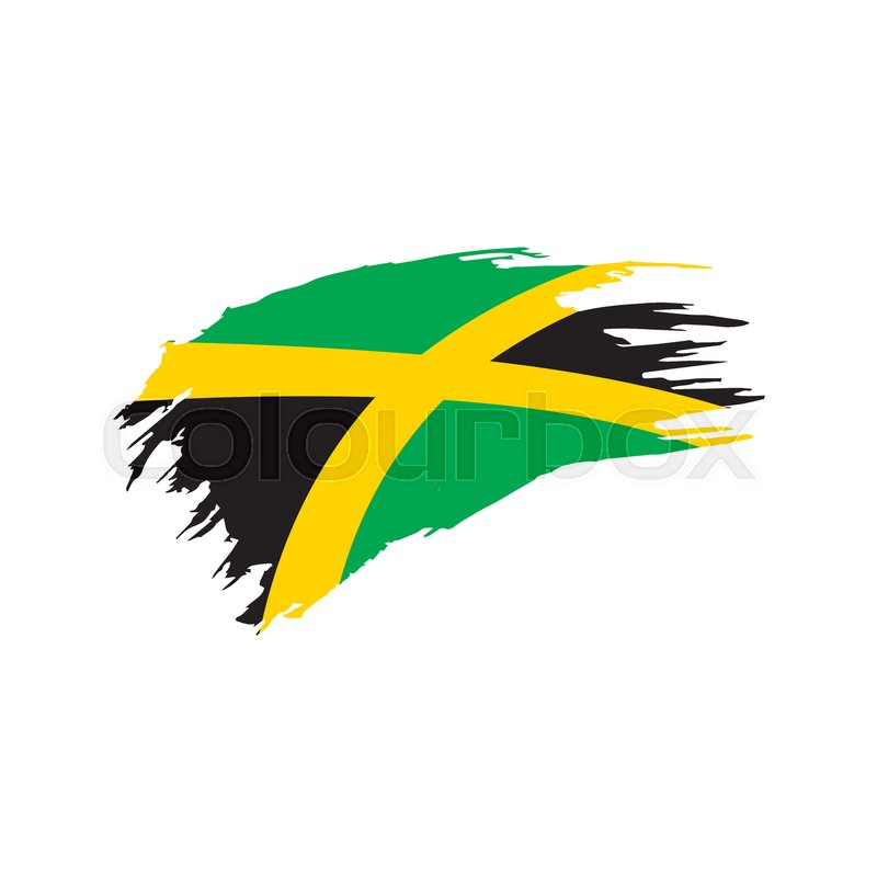 800x800 Jamaica Flag, Vector Illustration On A White Background Stock