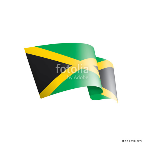 500x500 Jamaica Flag, Vector Illustration On A White Background Stock