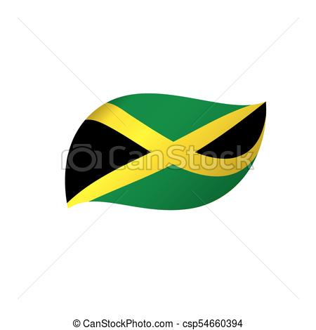 450x470 Jamaica Flag, Vector Illustration On A White Background Eps