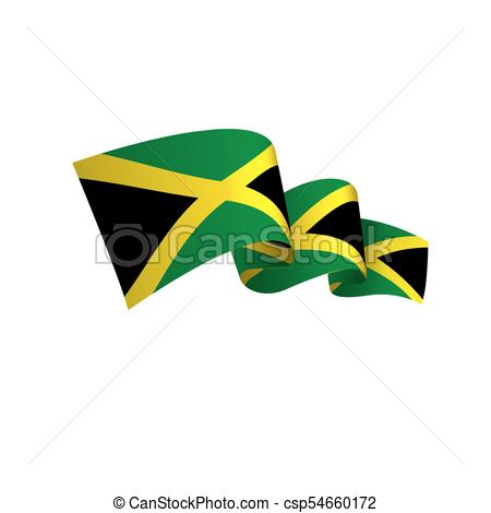 450x470 Jamaica Flag, Vector Illustration On A White Background Vectors