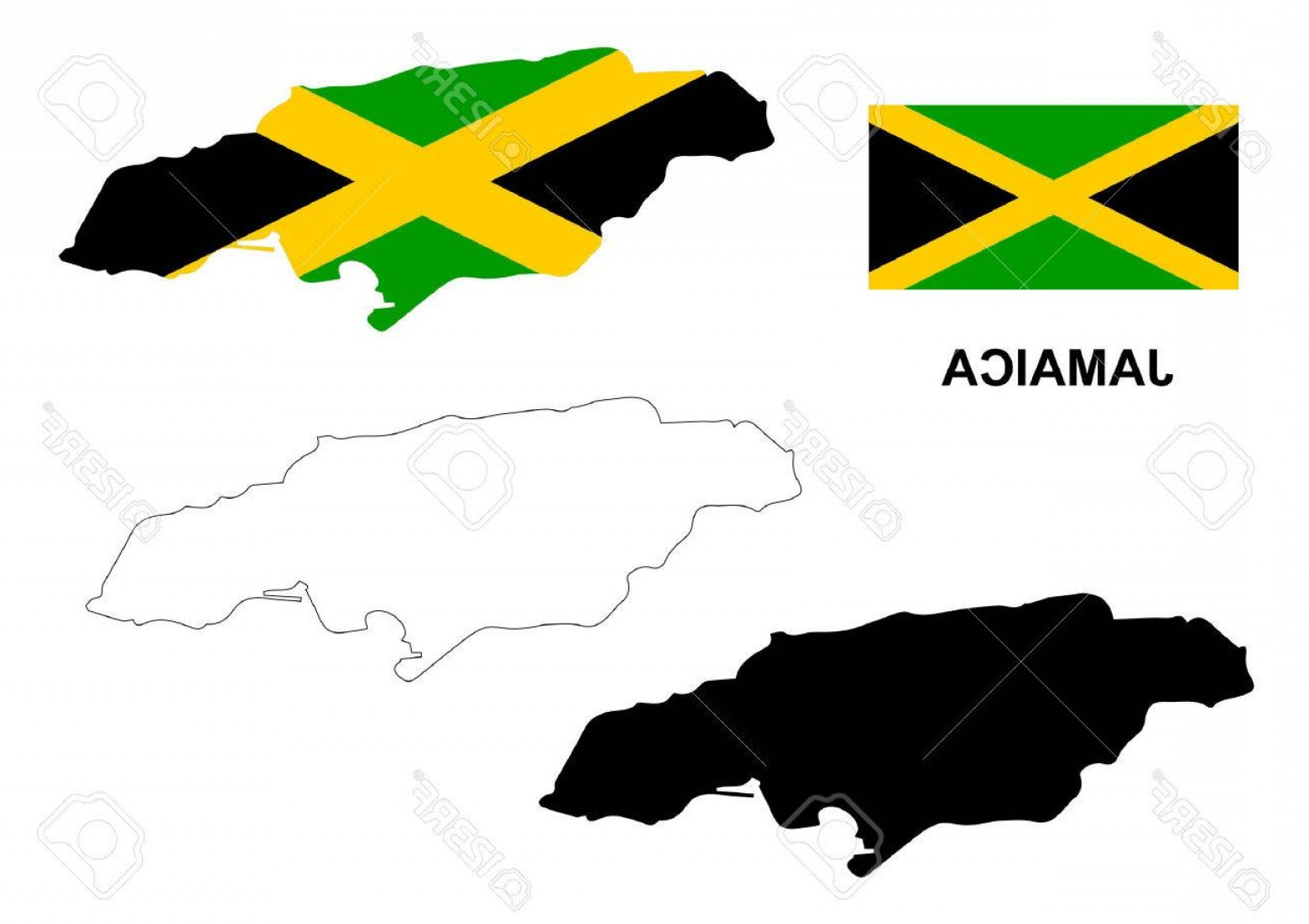 1560x1102 Photostock Vector Jamaica Map Vector Jamaica Flag Vector Isolated