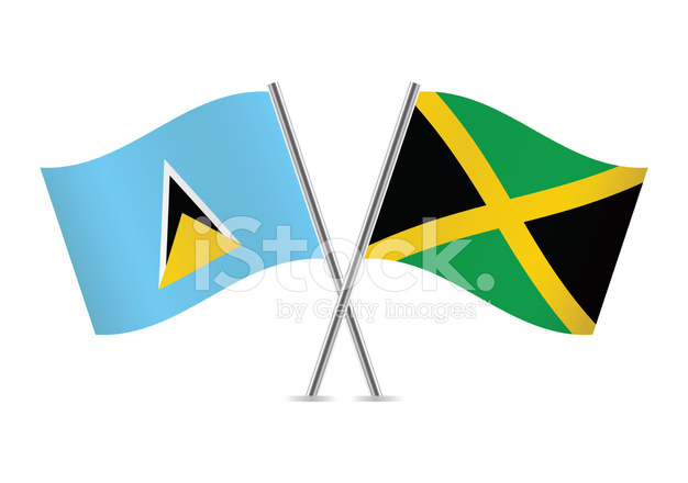 626x440 Saint Lucia And Jamaican Stock Vector