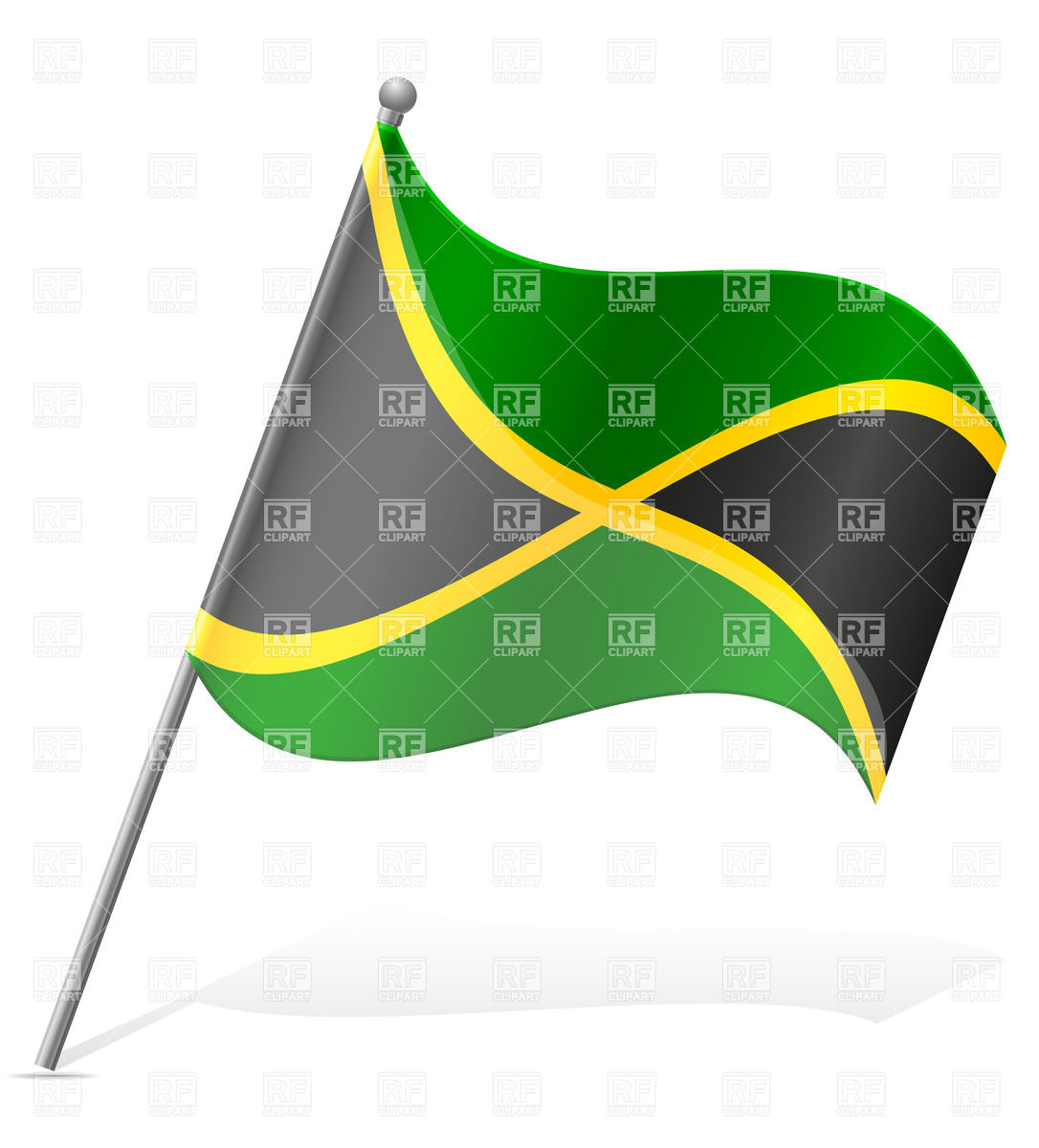 1086x1200 Wavy Flag Of Jamaica Vector Image Vector Artwork Of Signs
