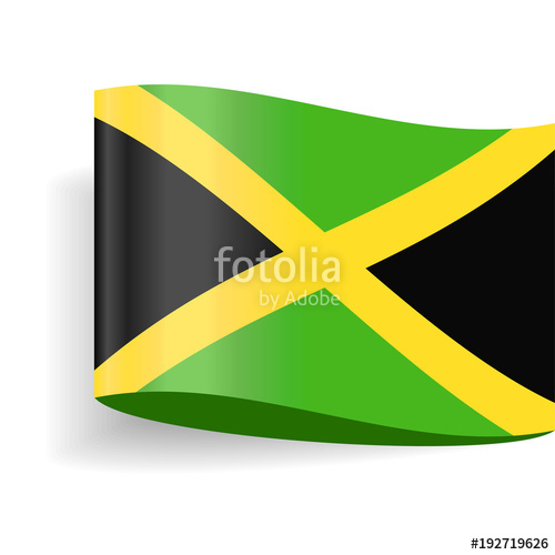 500x500 Jamaica Flag Vector Label Tag Icon Stock Image And Royalty Free