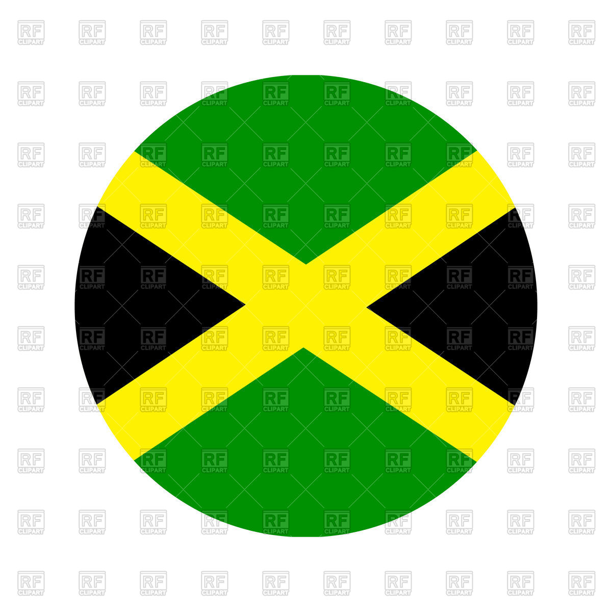 1200x1200 Jamaica Circle Flag Vector Image Vector Artwork Of Signs