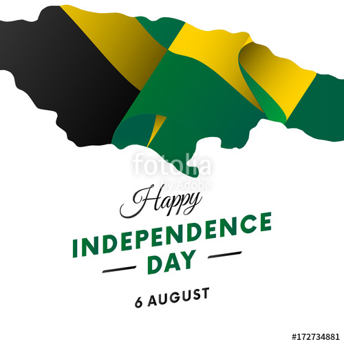 500x500 Jamaica Independence Day. Jamaica Map. Vector Illustration. Stock