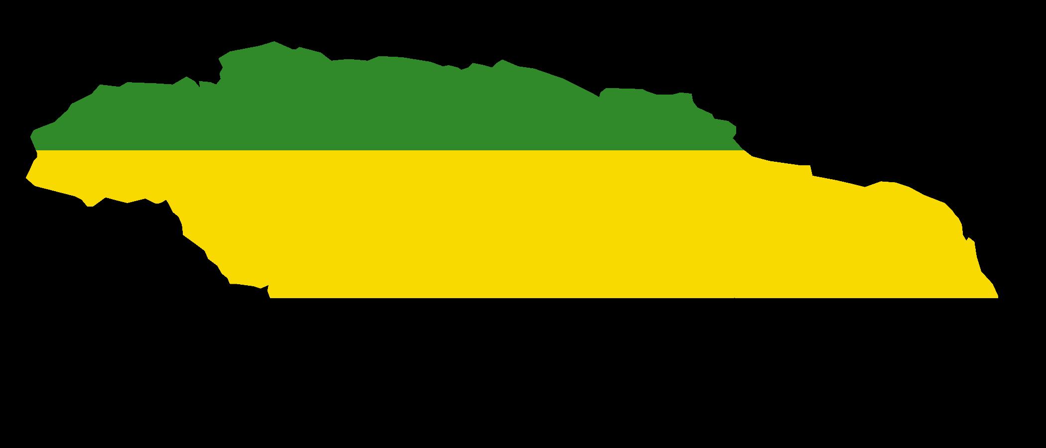 2100x900 Jamaica Map Vector