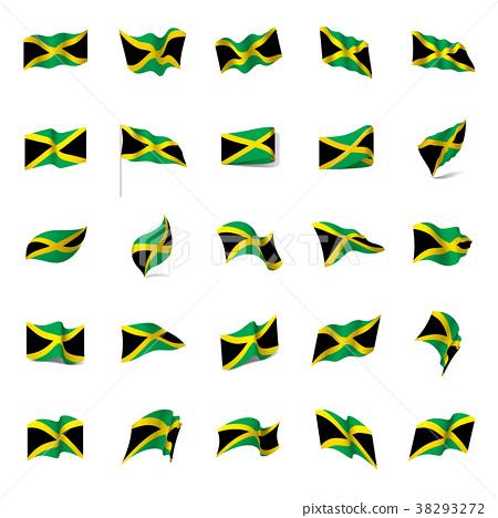 450x468 Jamaica Flag, Vector Illustration