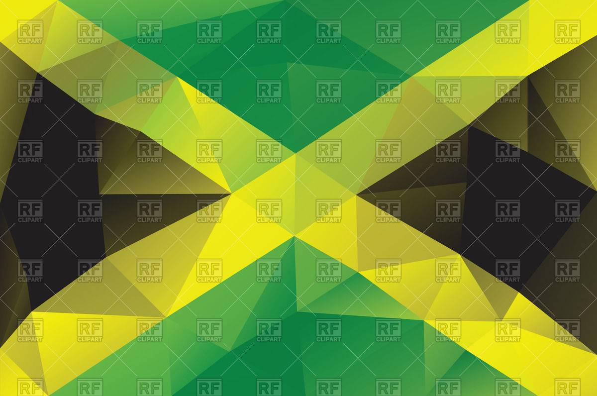 1200x796 Flag Of Jamaica In Polygonal Style Vector Image Vector Artwork