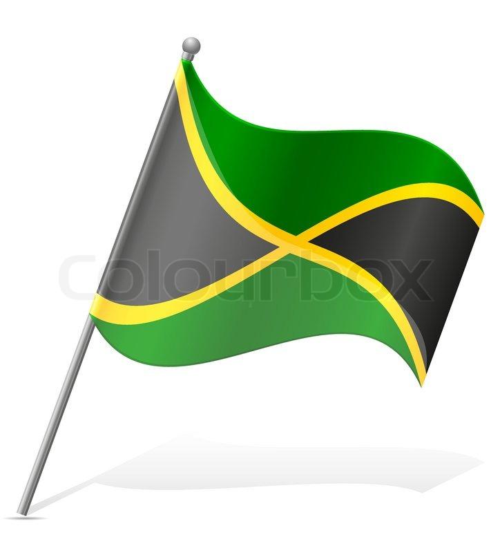 724x800 Flag Of Jamaica Vector Illustration Isolated On White Background