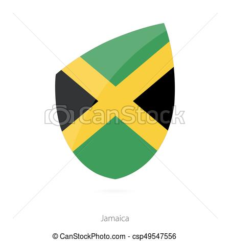 450x470 Flag Of Jamaica. Vector Illustration.
