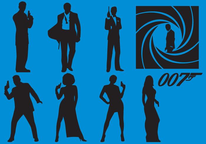 700x490 James Bond Silhouette Vectors Designrockr