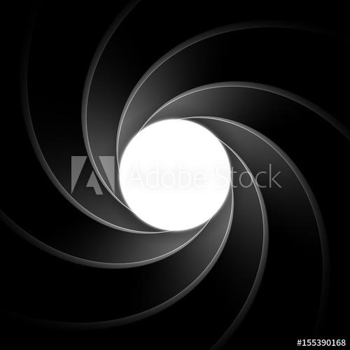 500x500 Inside Gun Barrel Template. Classical James Bond, Agent 007 Theme
