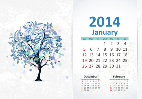 500x350 Calendar January 2017 Free Vector Download (1,837 Free Vector) For
