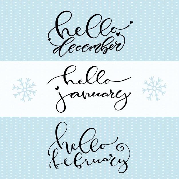 626x626 Hello December January February. Handwritten Winter Icon