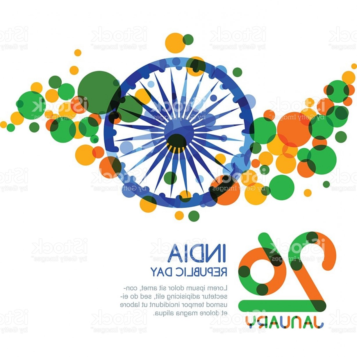 1228x1228 Of January India Republic Day Vector Multicolor Banner Background