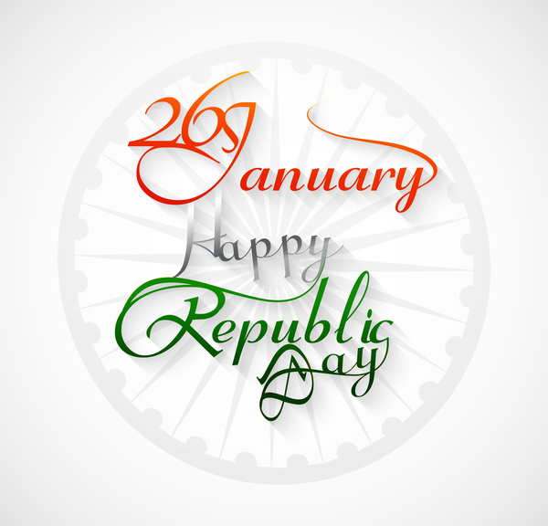600x576 Beautiful 26 January Calligraphy Happy Republic Day Text Tricolor