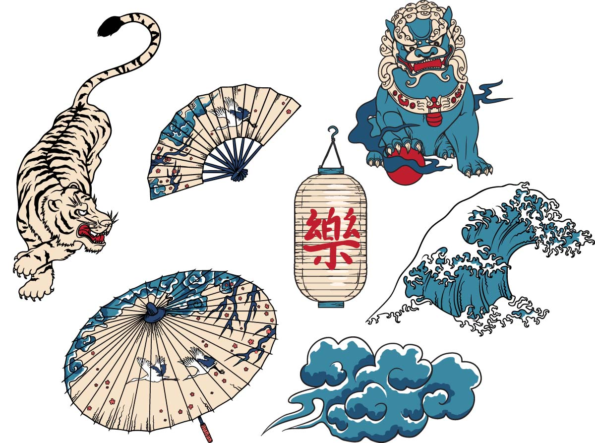 1200x893 Japanese National Symbols Set Free Download