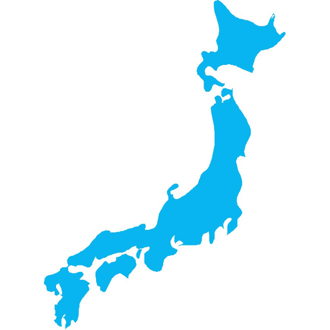 660x660 Vector Map Of Japan
