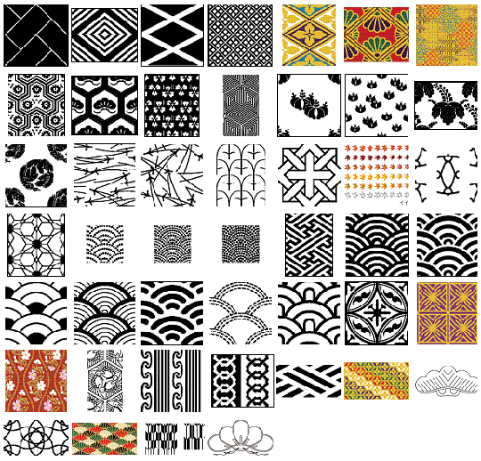 540x518 Vector Japanese Patterns