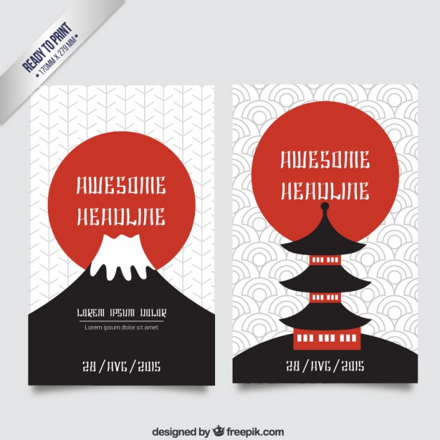 626x626 Japan Brochure Japanese Culture Brochure Vector Free Download