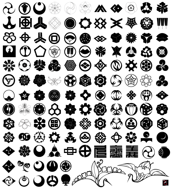 600x655 Free Japanese Traditional Elements Vector Set 123freevectors