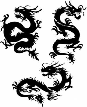 300x368 Japanese Dragon Free Vector In Encapsulated Postscript Eps ( .eps