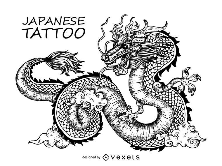 760x570 Japanese Dragon Tattoo Design