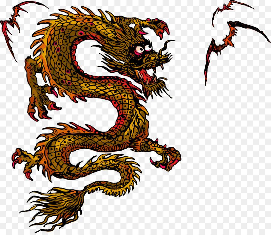 900x780 Chinese Dragon Japanese Dragon