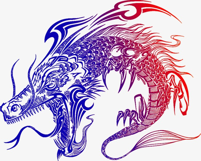 650x521 Vector Japanese Dragon Totem, Japanese Dragon Totem, Dragon Totem