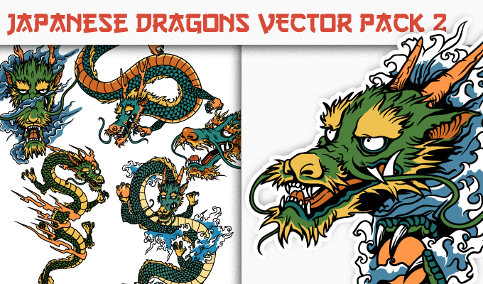 680x400 Dragons Vector Pack 2