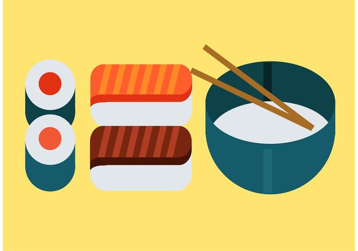 700x490 Japanese Food Vector Pack
