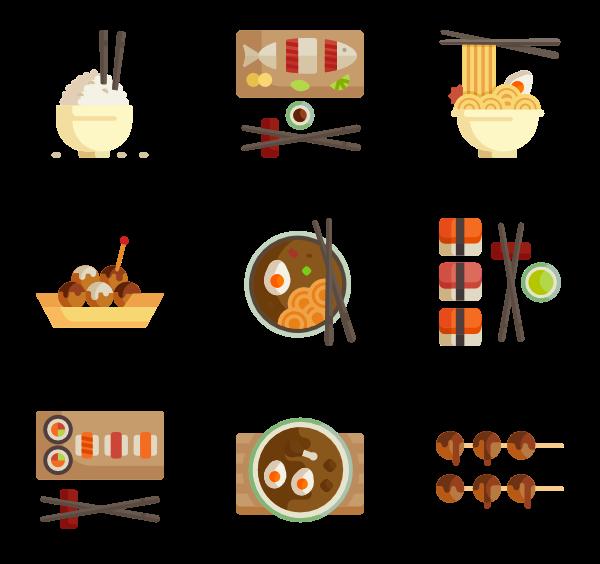 600x564 Japanese Food Icons