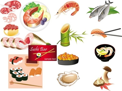 491x368 Japanese Food Vector Free Vector Download (5,972 Free Vector) For