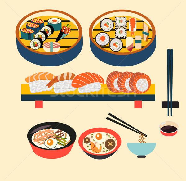 600x583 Vector Food Japanese Food Vector Illustration Svetlana