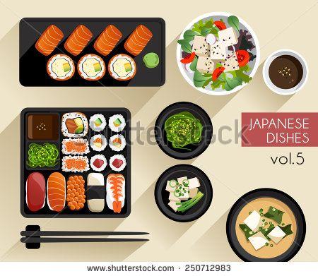 450x391 Food Illustration Japanese Food Vector Illustration Food Icon