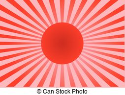 254x194 An Illustration Of A Japanese Sun With Pink Blossom Flowers On A