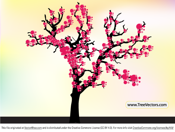580x438 Free Cherry Blossom Tree Vector