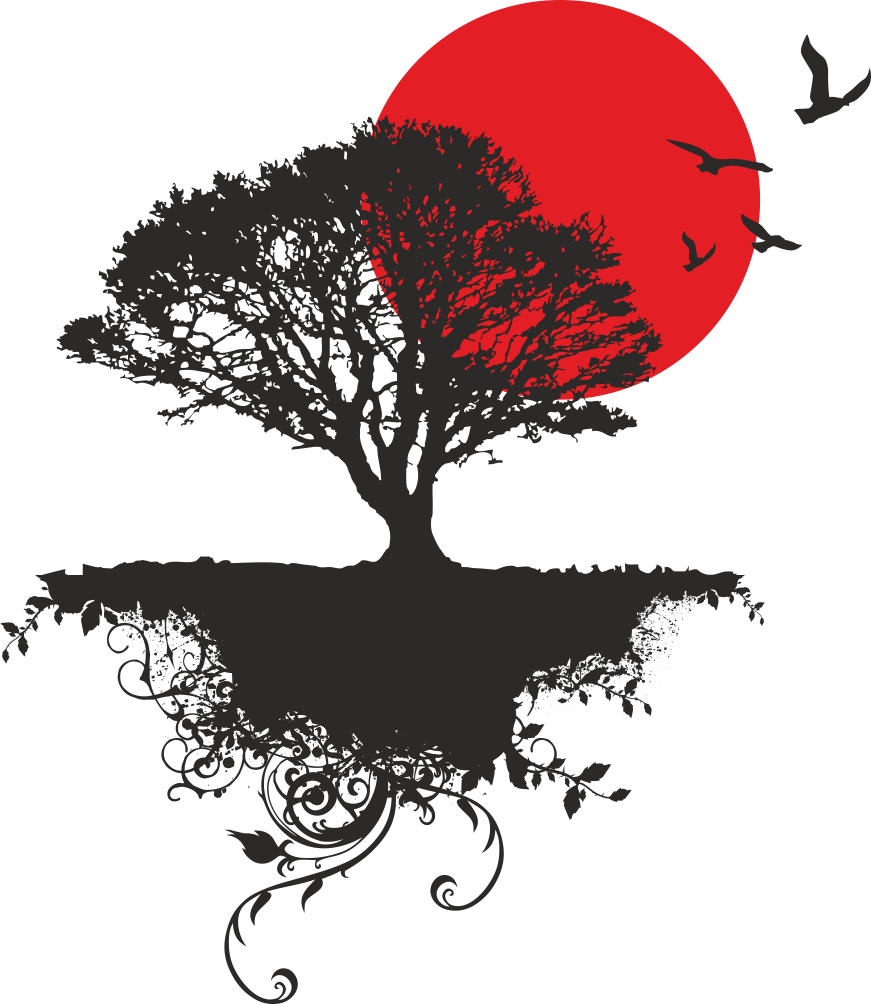 871x1004 Japanese Tree Vector Art Free Vector Download