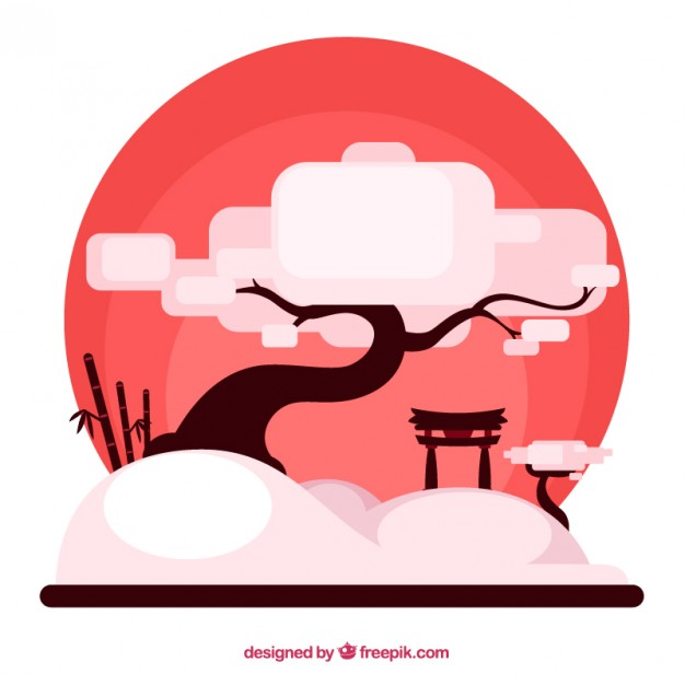 626x626 Japanese Tree Vector Free Download