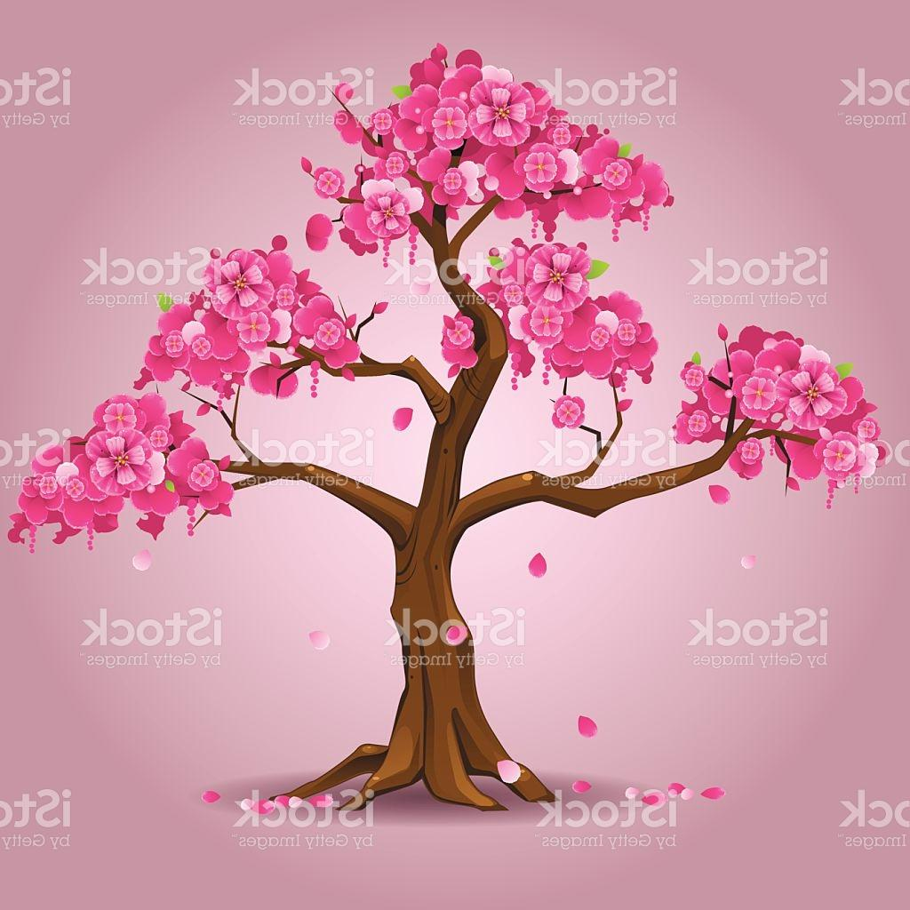 1024x1024 Best Free Japanese Sakura Tree Vector Image