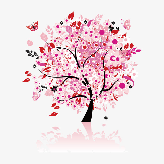 650x651 Vector Japanese Cherry Tree, Vector, Japan, Cherry Tree Png And