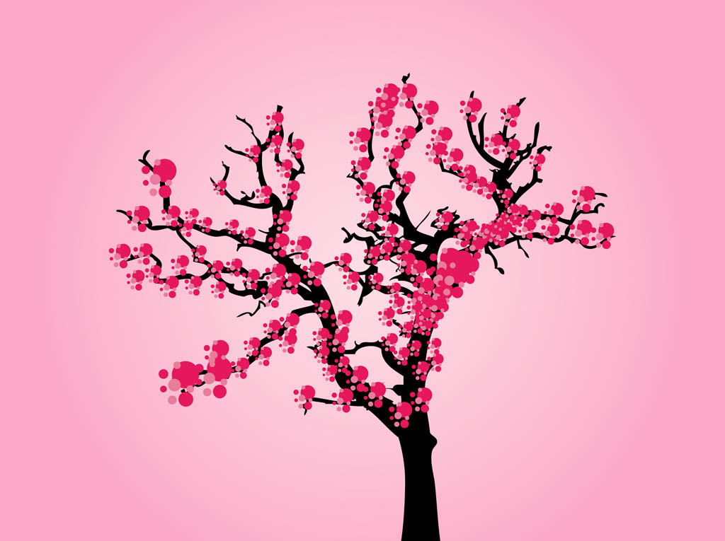 1024x765 Cherry Tree Clipart Animated
