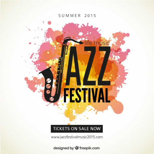 626x626 Jazz Festival Poster Vector Free Download