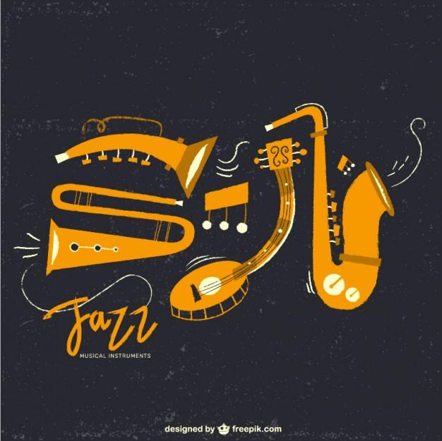 626x625 Jazz Music Instruments Vector Free Download