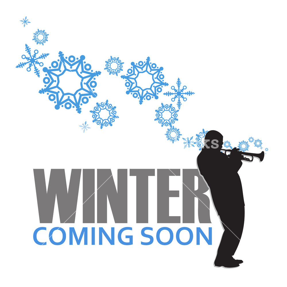 1000x1000 Abstract Vector Illustration Of Jazz Maker And Snowflakes. Royalty