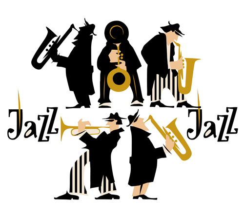 500x449 Musicians With Jazz Music Vector Material 03 Free Download
