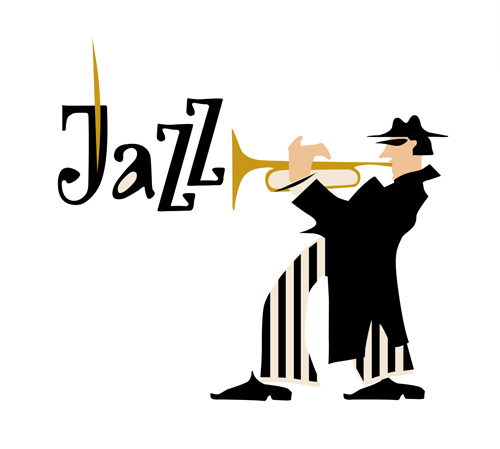 500x449 Musicians With Jazz Music Vector Material 05 Free Download